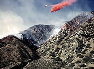 Fire behavior and air tanker working just above Pacoima Canyon prior to the entrapment of the El Cariso Hotshot Crew.