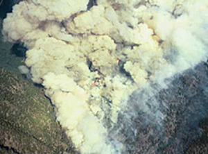 Aerial view of the fire taken by the Air Attack at approximate time of entrapment.